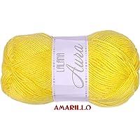 Amarillo 22 Melissa Cool Hilo Acr/ílico Ovillo de Lana Fresca para DIY Tejer y Ganchillo 1u * 80g