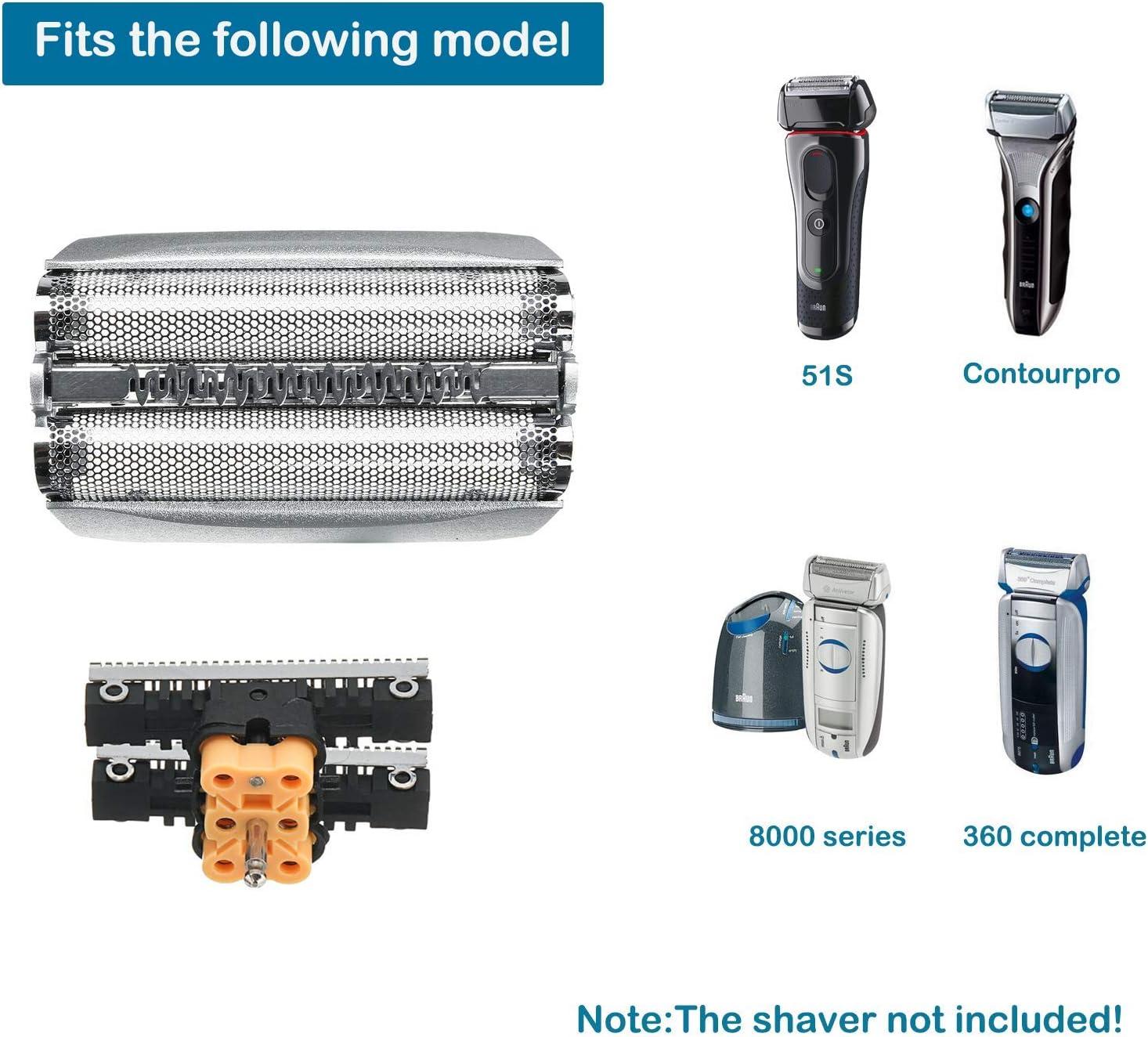 51S Cabezales de Afeitado para Braun Afeitadora Eléctrica Hombre ...