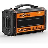 ポータブル電源 大容量 Rockpals 正弦波 64800mAh/240Wh 小型 発電機 軽量2.5Kg DC&AC&USB出力 予備電源 地震 キャンプ 車中泊 災害緊急時バックアップ電源 家用蓄電池 K36