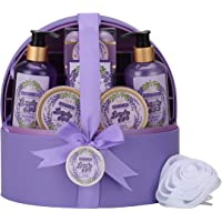 12-Piece Sweetlove Spa Gift Baskets for Women with Jewellery Case,Bath & Body Gift Set for Her,Luxurious Lavender