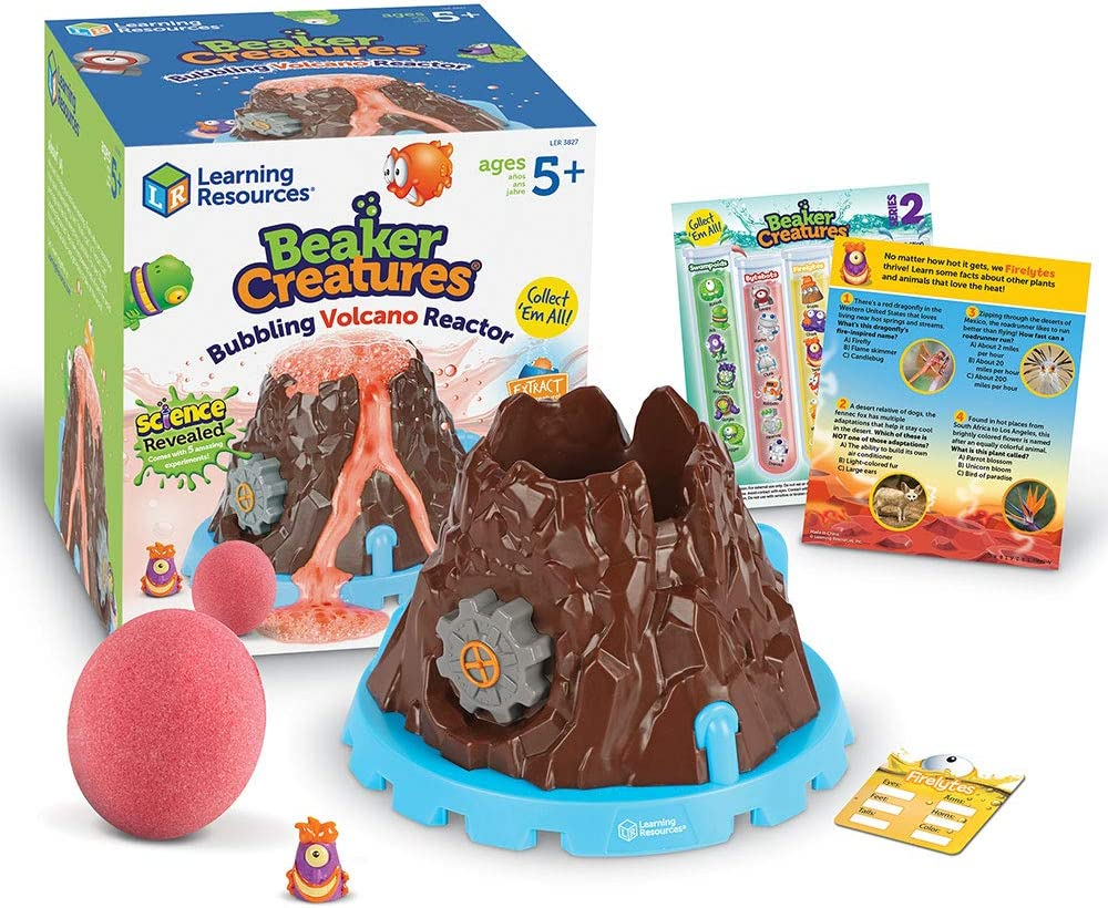Learning Resources Beaker Creatures Bubbling Volcano Reactor, Homeschool, STEM, Includes 5 Science Experiments, 6 Pieces, Ages 5+