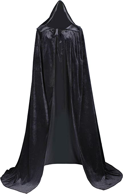 XX-Large, Wine red-Gold LuckyMjmy Velvet Renaissance Medieval Cloak Cape Lined with Satin