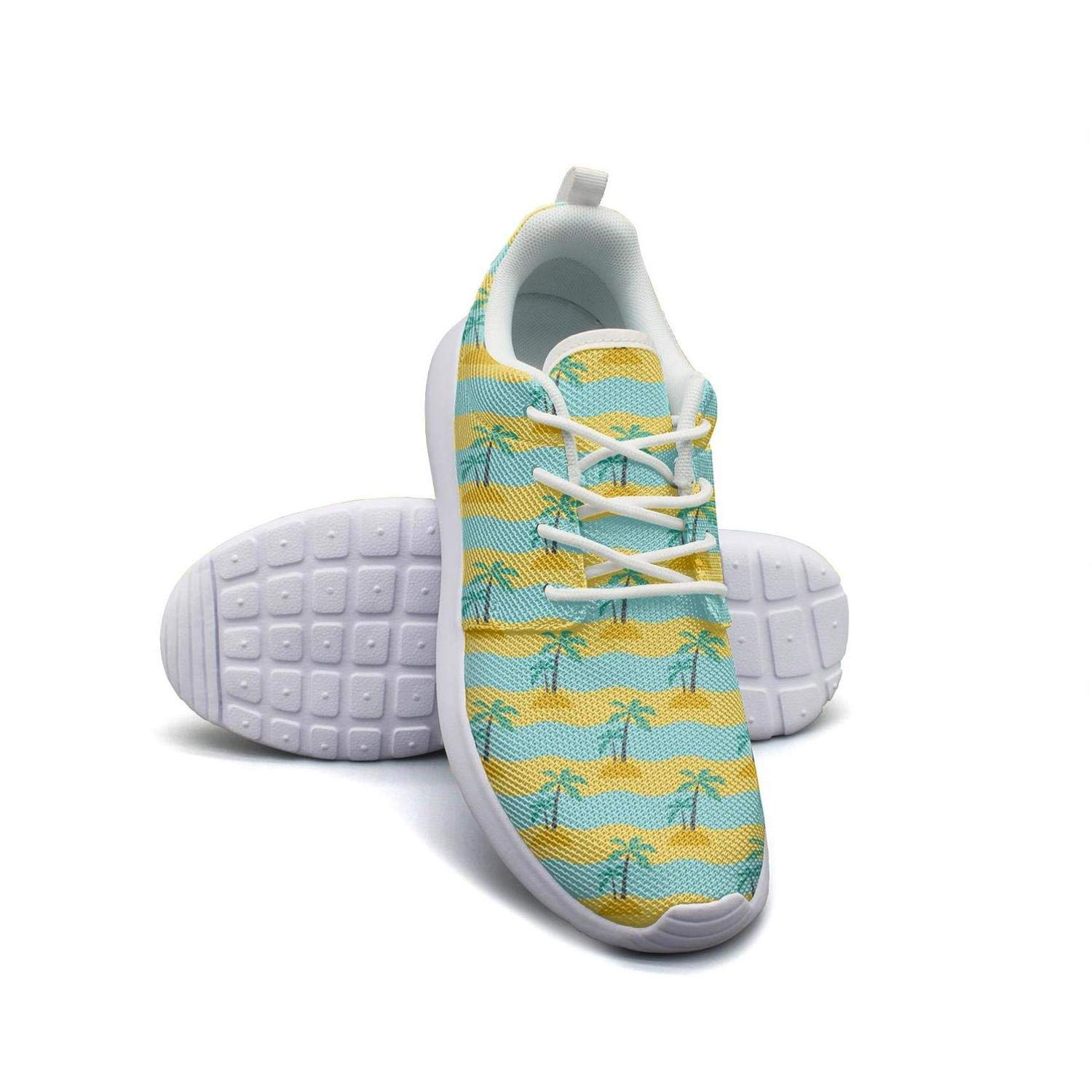 Palm tree leaves seamless pattern tropical Boys Sneakers for Men news Breathable Cheap Running Shoes