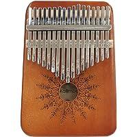 Kalimba 17 Keys Thumb Piano, Portable Finger Piano Solid Mahogany Wood Finger Percussion Keyboard African Wood Musical…