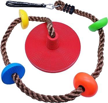 Xinlinke - Cuerda de Escalada para árbol y Asiento de Columpio para niños