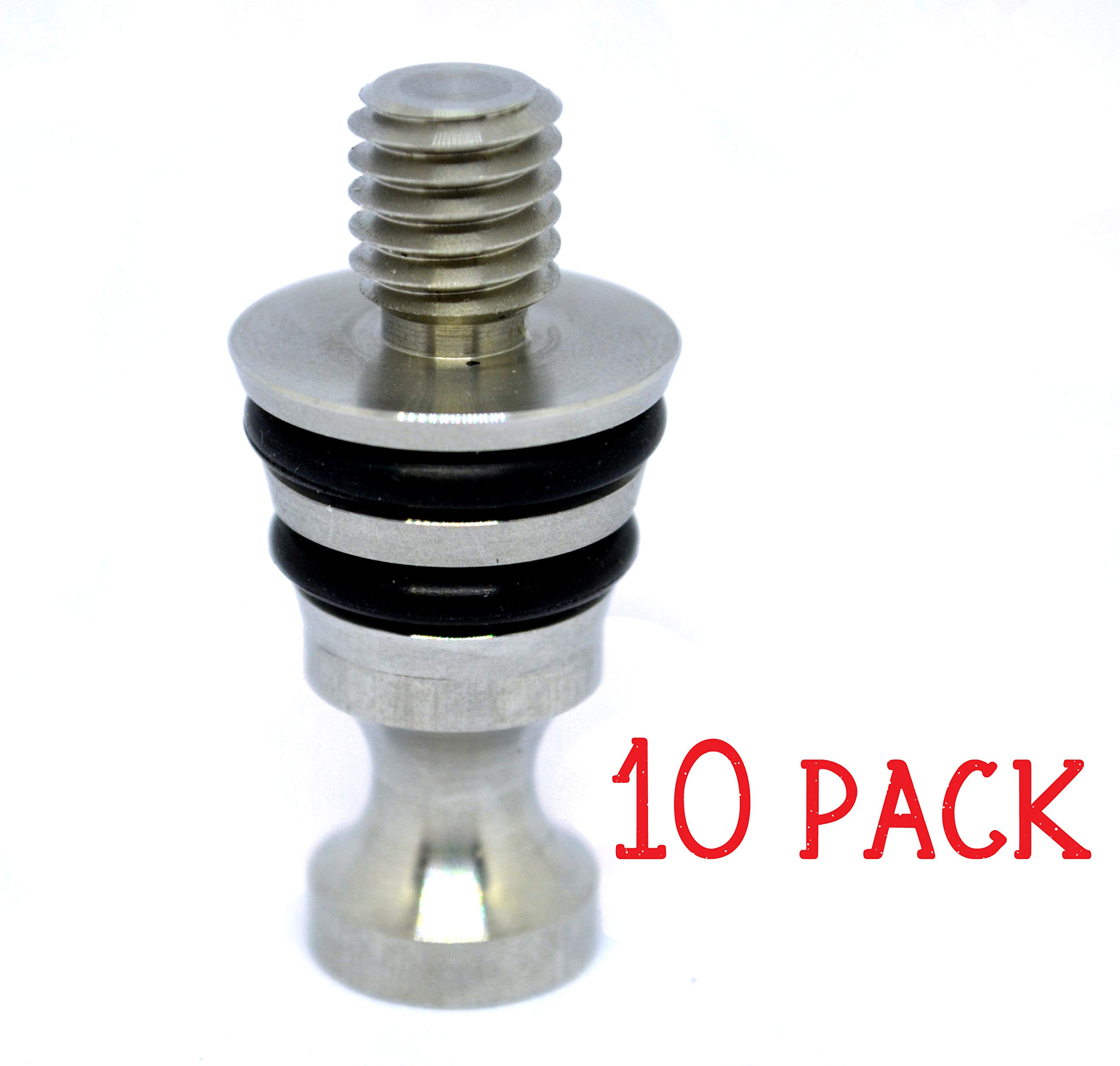 10 Pack Stainless Steel Standing Wine Bottle Stopper Hardware Kit for Wood Turning by C and C Stock