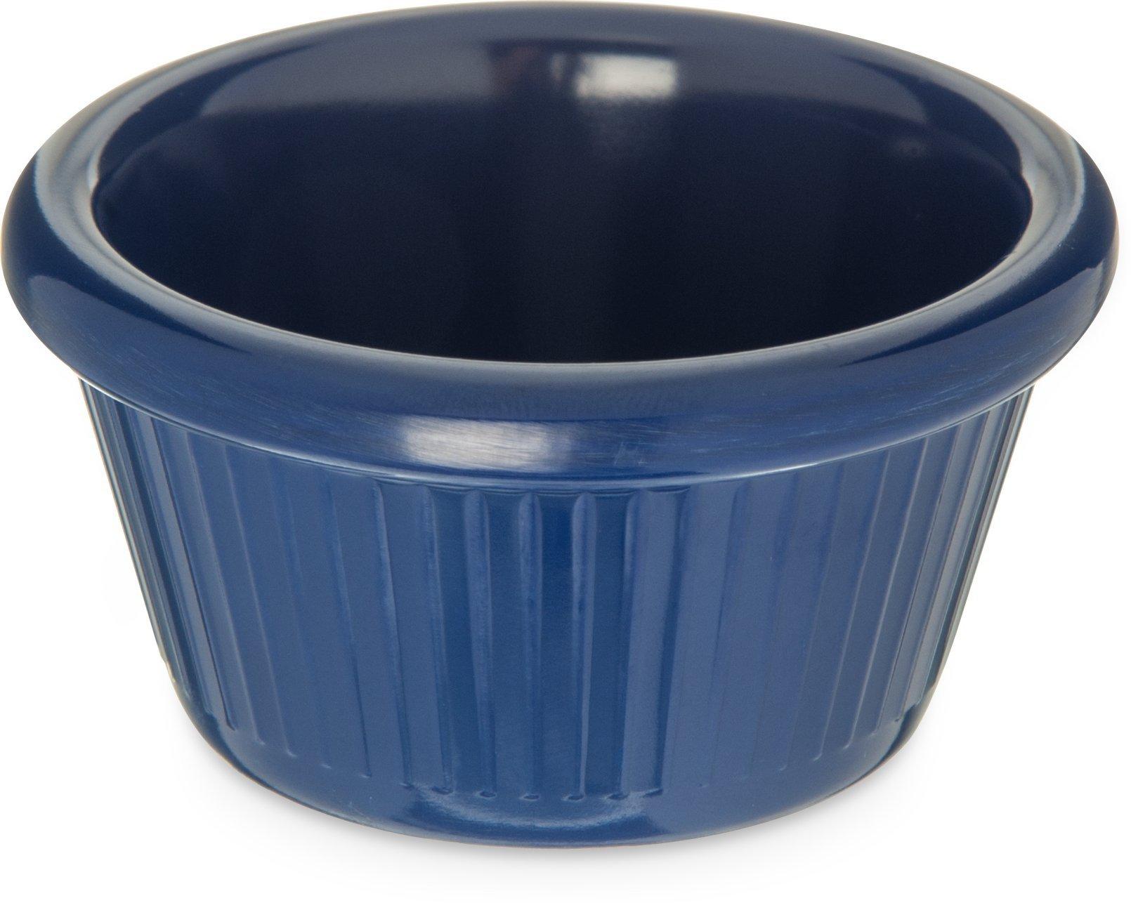 Carlisle S27960 Melamine Fluted Ramekin, 2 oz. Capacity, Cobalt Blue (Case of 48)