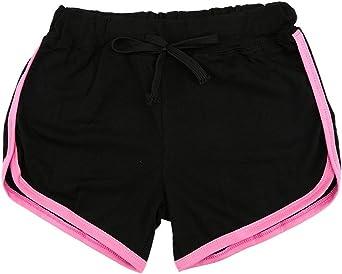 Minetom Donne Ragazze Estate Tempo Libero Sport Pantaloncini Casuale in Esecuzione Yoga Formazione Pantaloncini