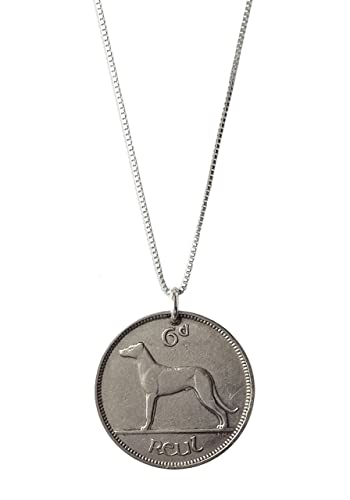 Amazon com: Real Vintage Irish Wolfhound Dog Coin Necklace