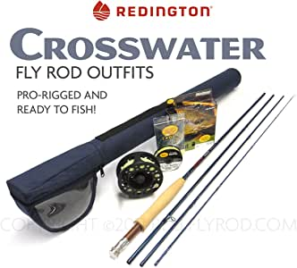 """Redington Crosswater 690-4 Fly Rod Outfit (9'0"""", 6wt, 4pc)"""