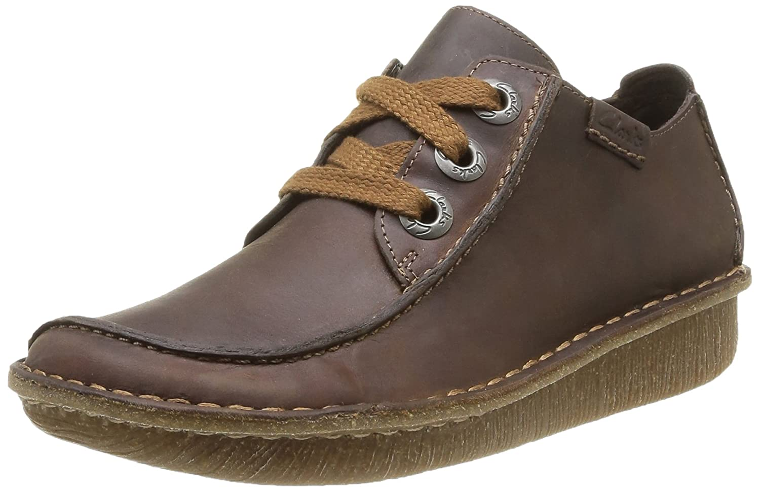 Clarks Funny Dream, Zapatos de Cordones Derby para Mujer 36 EU|Marrón (Brown Leather)