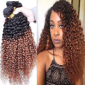 Amazon Com Xccoco Hair 8a Peruvian 2tone Ombre Color Black To