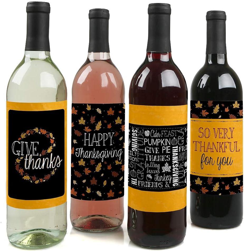 Thanksgiving Wine Label Thanksgiving Wine Label Side Dish Label