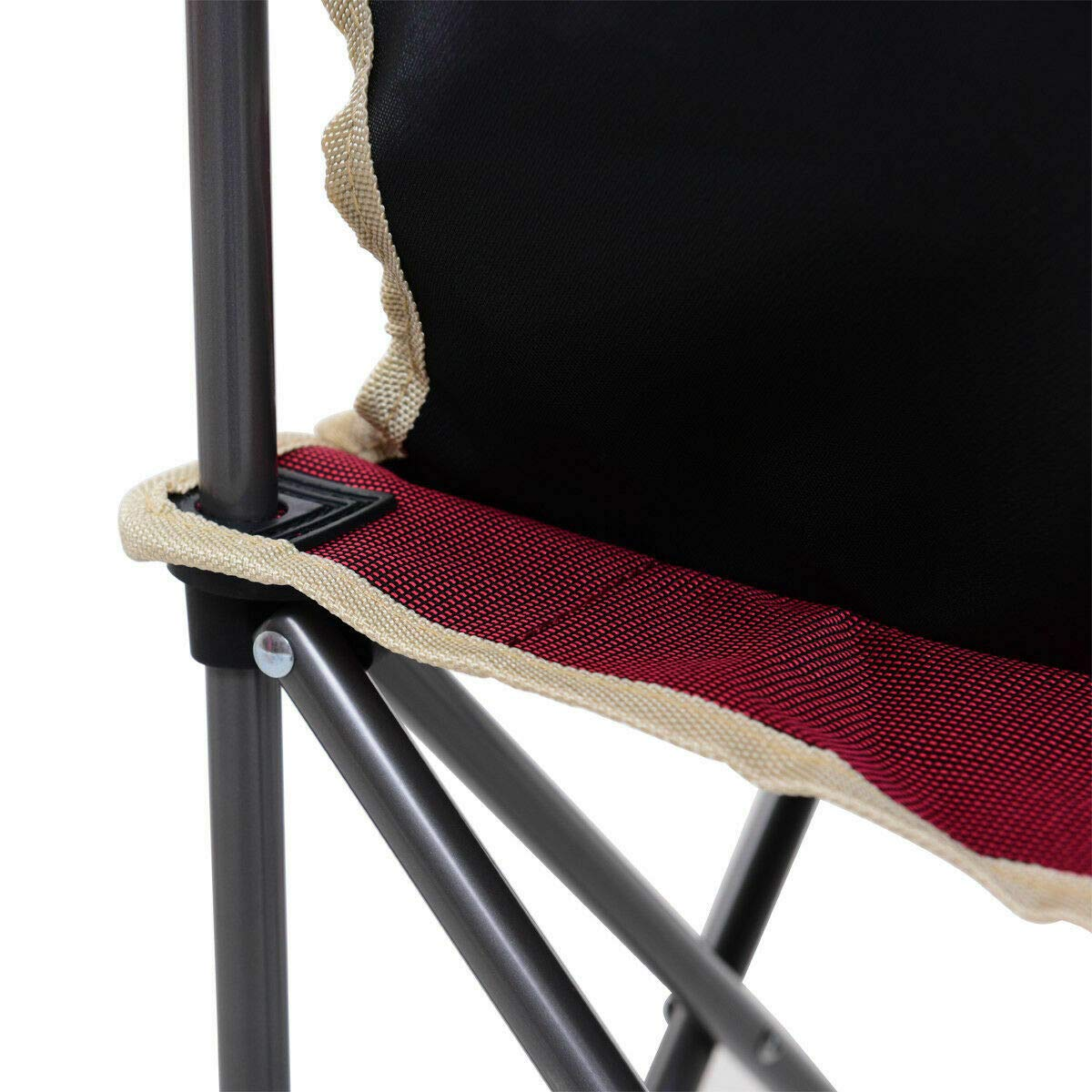 ANA Store Vacations Cookout Party Curl Stand Metal Iron Stell Frame Red Oxford Fabric Portable Folding Table Chairs Set Inside Outside Camp Beach Picnic with Carrying Bag by ANA Store (Image #7)
