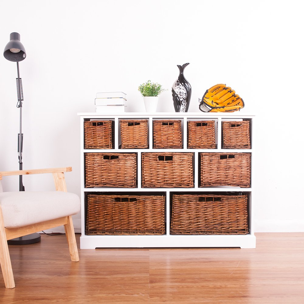 Marvelous Btm 10 Drawer White Wide Functional Wooden Maize Wash Wicker Baskets Cabinet Storage Unit Fully Assembled Quality Chest Of Drawers White Ocoug Best Dining Table And Chair Ideas Images Ocougorg