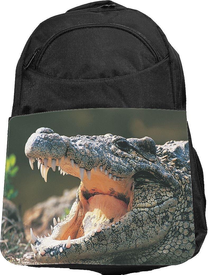 Rikki Knight UKBK Alligator in the Wild Techバックパック – パッド入りノートパソコン&タブレット学校やカレッジバッグバックパック  Alligator in the Wild B01JFLMKNE