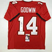 $124 » Autographed/Signed Chris Godwin #14 Tampa Bay Red Football Jersey JSA COA