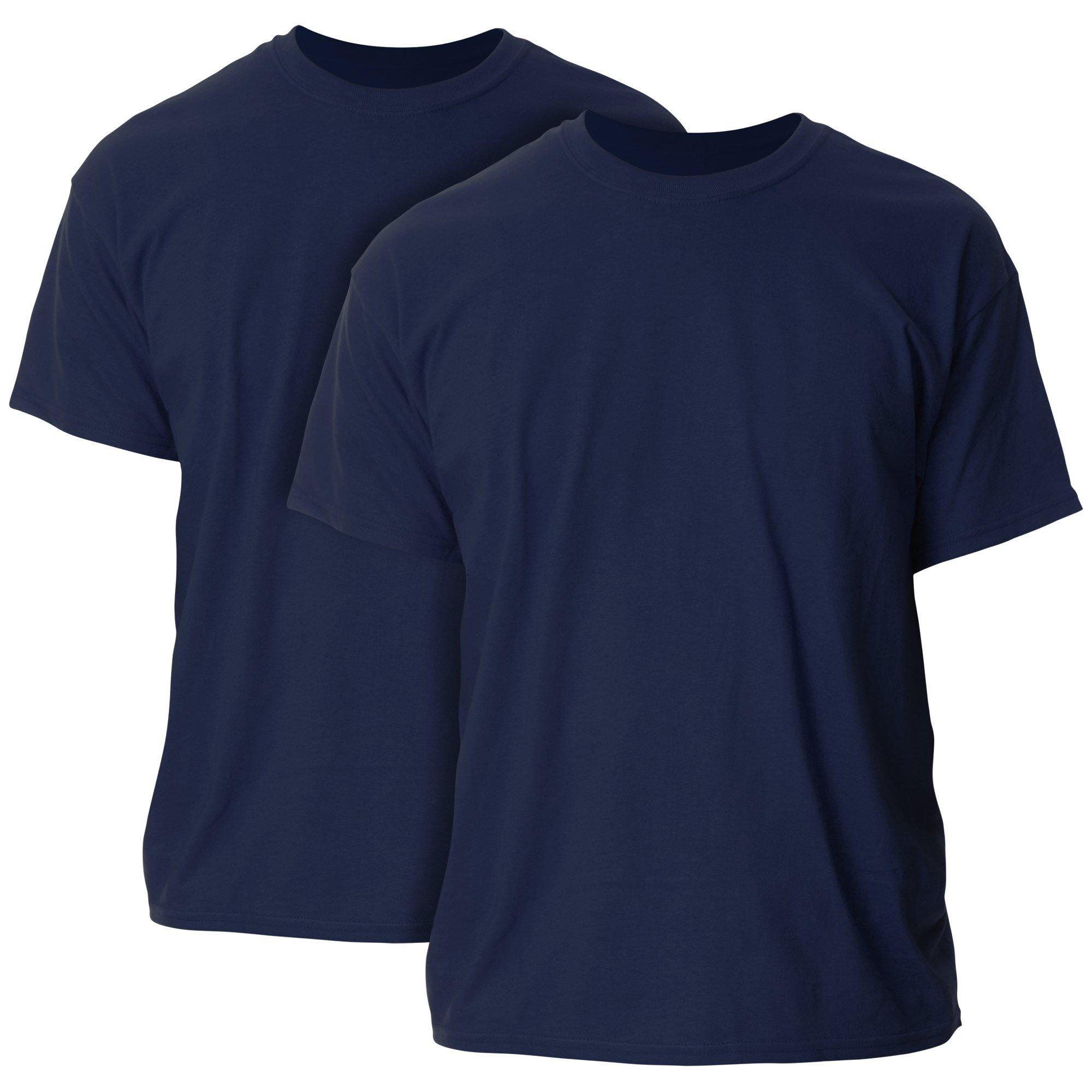 Gildan Men's Ultra Cotton Adult T-Shirt, 2-Pack, Navy, 3X-Large