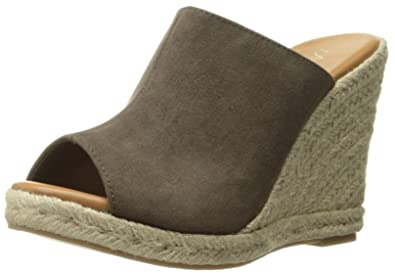 18cbd252a53 Athena Alexander Women's Marlowe Espadrille Wedge Sandal, Taupe Suede, 10 M  US
