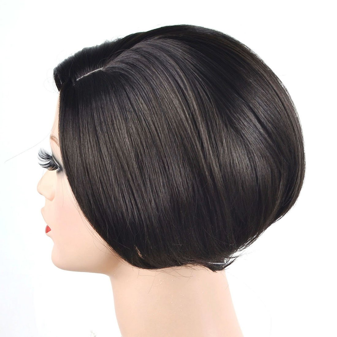 Coolsky Wig OL Short Black Woman Hair For Party or Daily Life Cosplay by COOLSKY (Image #2)
