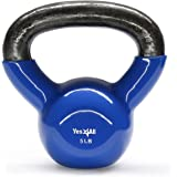 Yes4All Single Vinyl Coated Kettlebell Great quality for Cross Training, MMA Training, Home Exercise, Fitness Workout