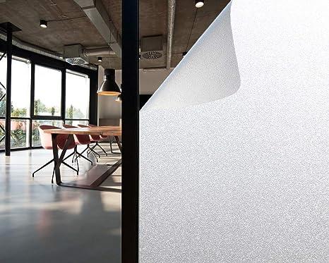 Olliwon Vinilo Cristal Ventana 60 x 200cm Película para Ventanas Privacidad Vinilos Opaco Decorativos Autoadhesivo No Adhesivo Reutilizable para ...