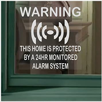 X Home Protected Stickers For WindowsMonitored Alarm System - Window stickers amazon uk