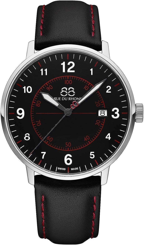 88 Rue du Rhone Reloj de Cuarzo Suizo Newold Collection para Hombre 87WA184007 Esfera Negra