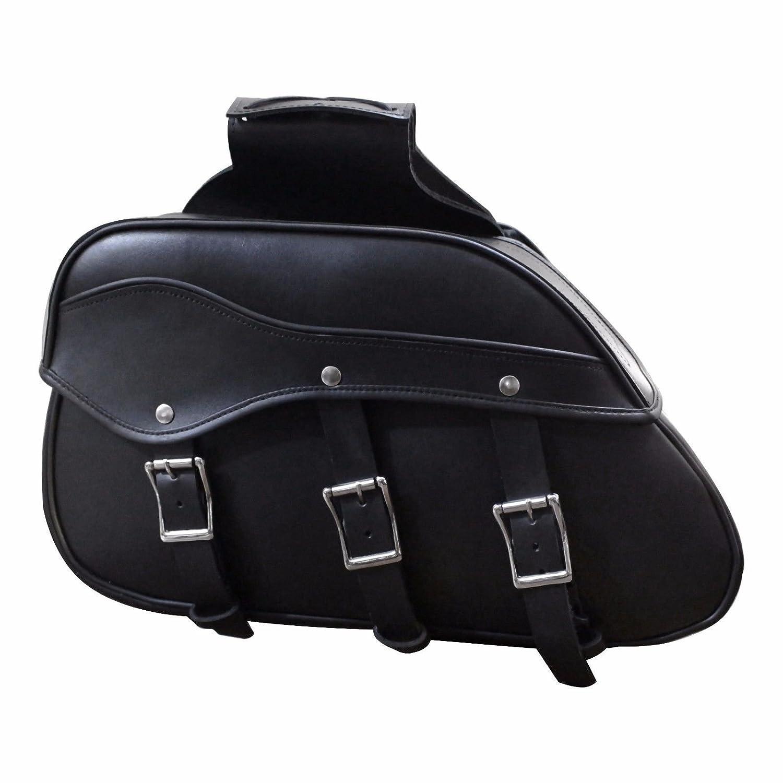 Profirst Waterproof Motorbike Saddle Bag Panniers Luggage Box Heavy Duty Product Touring Cruisers Motorcycles Motorbike Leather Saddle Bag Full Black 666