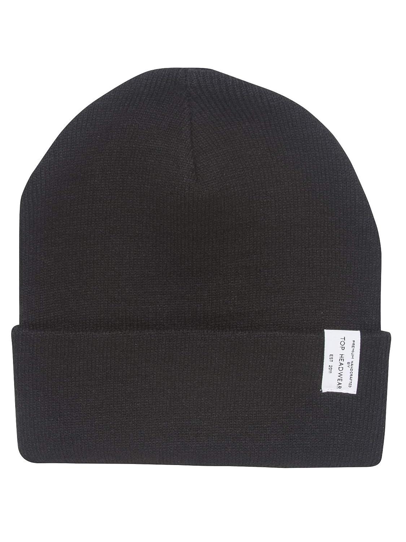 Black TOP HEADWEAR TopHeadwear Logo Winter Long Beanie