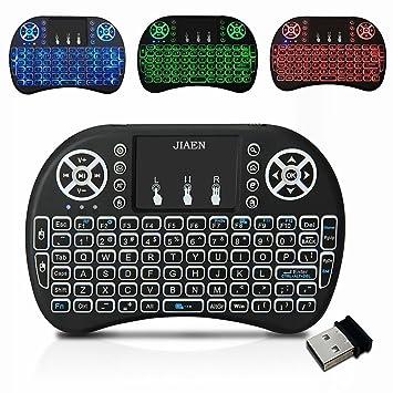 e-jiaen 2.4 GHz Mini Teclado Inalámbrico con Touchpad Ratón Combo teclado portátil de mano