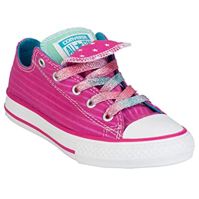 b2181c48691 Girls Converse Children Girls CT Double Tongue Trainers in Pink - 10 child   Amazon.co.uk  Shoes   Bags