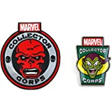 Marvel Collectors Corps Red Skull Patch & Goblin Pin Set