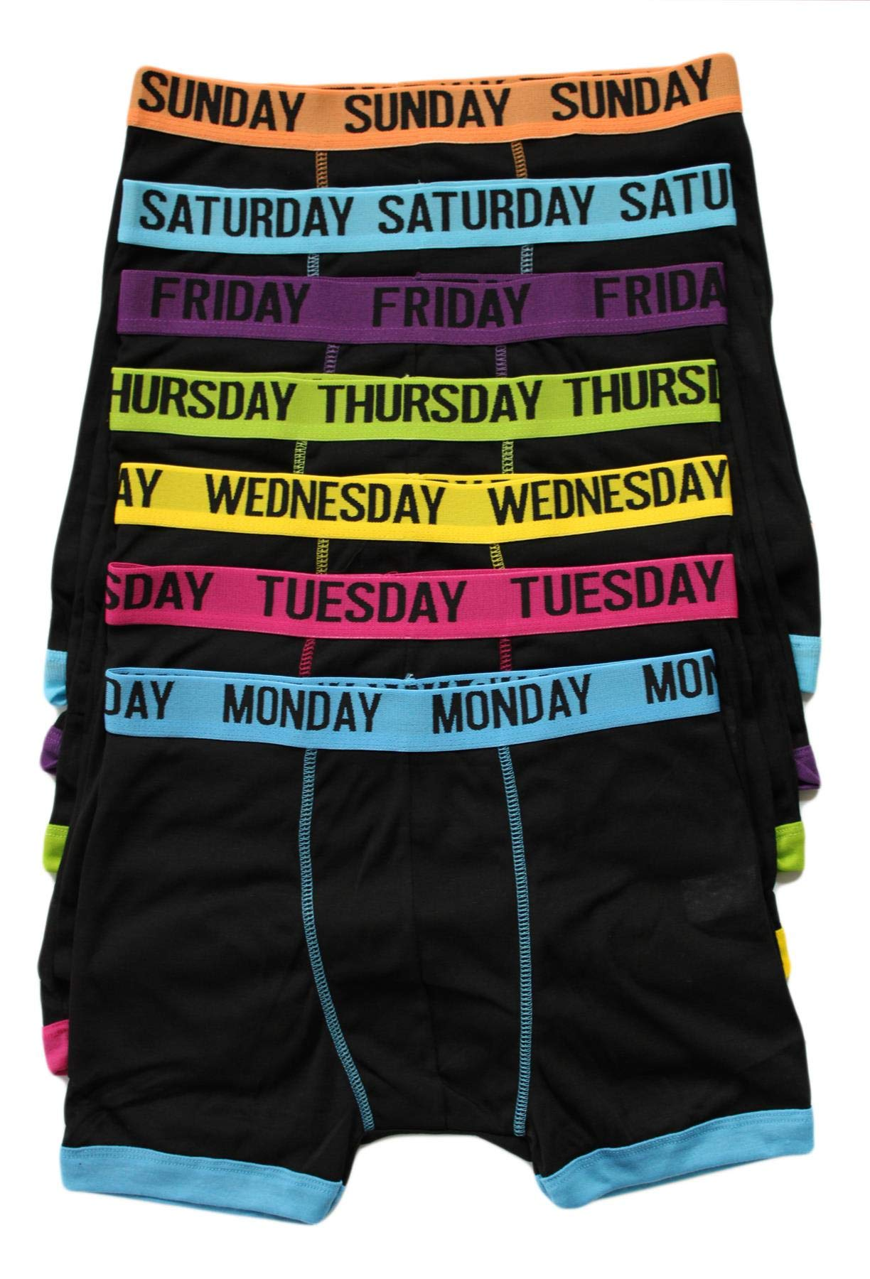 7 Days Of The Week Boxer Shorts Men/'s 7 Boxers Trunk Underwear Small To XXL