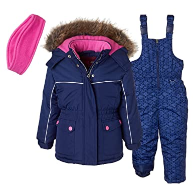 ca0e80933 Amazon.com  Pink Platinum Girls  Printed Super Snowsuit  Clothing