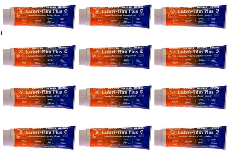 Haynes Lubri-Film Plus, 4 oz Tube, Extended Performance Sanitary Lubricant, Pack of 12 Tubes