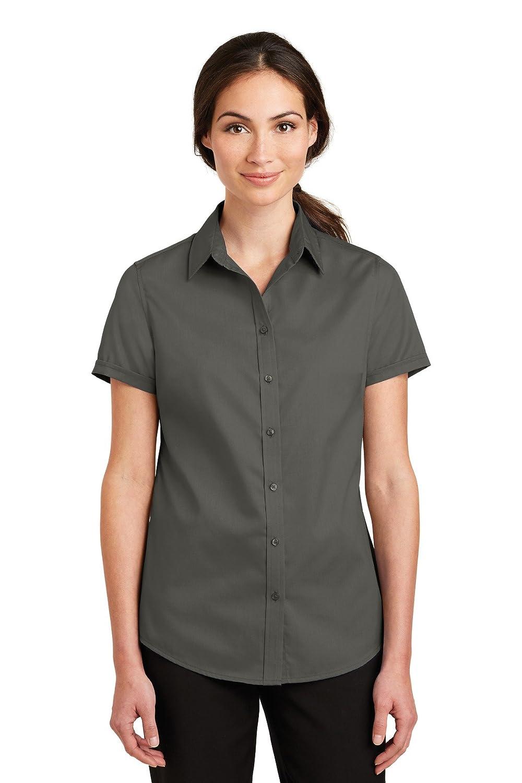 Port Authority Ladies Short Sleeve SuperPro Twill Shirt L664