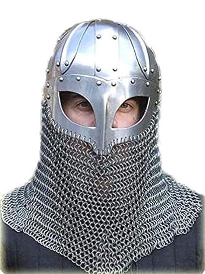 Amazon.com: Viking Casco Batalla Armor 18 g Acero y ...