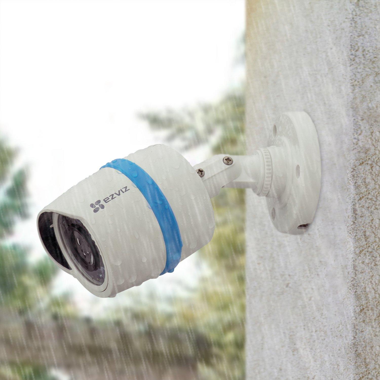 6 Weatherproof HD Security Cameras 100ft Night Vision 8 Channel 2TB DVR Storage EZVIZ FULL HD 1080p Outdoor Surveillance System BD-2826B2 Customizable Motion Detection Inc