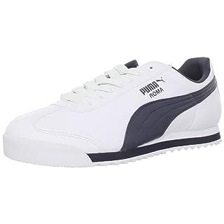 PUMA Men's Roma Basic Fashion Sneaker, White/New Navy - 13 D(M) US
