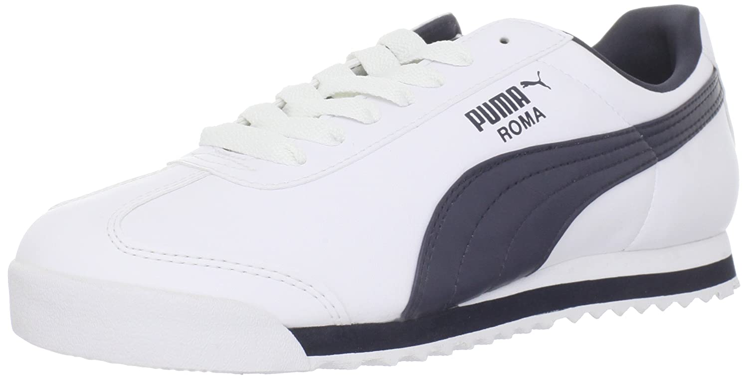 e461bf335366 PUMA Men s Roma Basic Sneaker White Light Grey  Puma  Amazon.ca  Shoes    Handbags