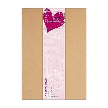 Docrafts Papermania Kraftpapier Din A4 280g 25 Stück Amazonde
