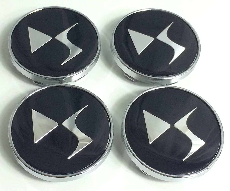 VOLVO 4pcs Plastic Wheel Centre Caps with Chromed Emblem 60mm//55mm NEW