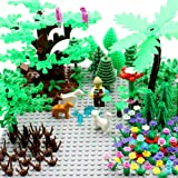 Garden Pack Block Parts Plant Leaves Scenery Accessories Plant Set Building Toy Animals Trees Plants Flowers Compatible with all Major Brands
