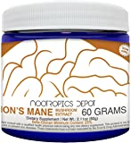 Lions Mane Mushroom Powder | 60 Grams | Hericium erinaceus | Organic Whole Fruiting Body Mushroom Extract | Natural Nootropic Supplement | Neuroprotective + Boosts Mood