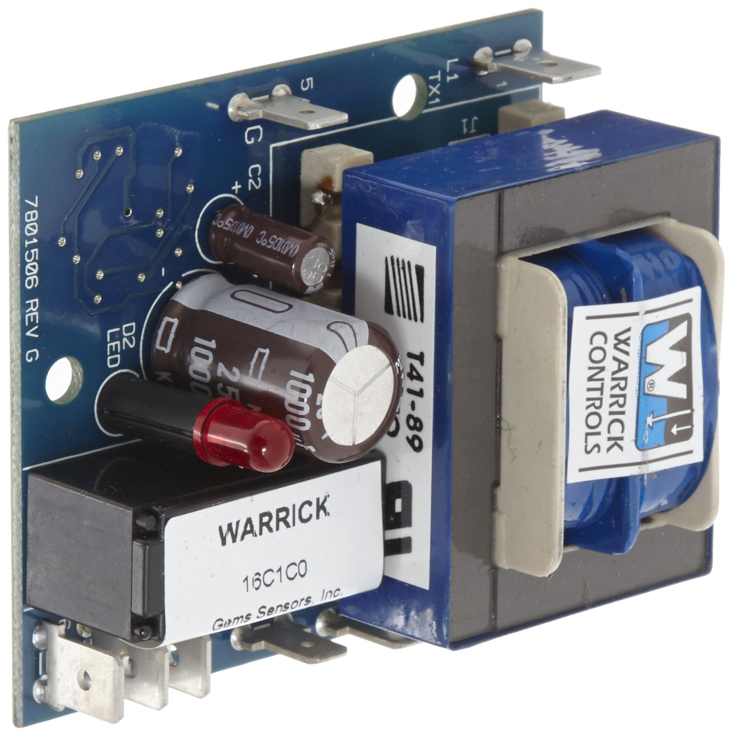 Warrick 16C1C0 General Purpose Open Circuit Board Control with Screw Mount Standoff, 26K ohms Direct Sensitivity, 120 VAC Voltage