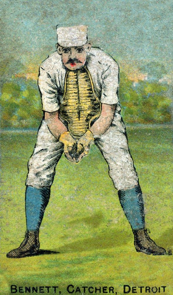 デトロイトWolverines – Charlie Bennett – 野球カード 16 x 24 Giclee Print LANT-22425-16x24 16 x 24 Giclee Print  B017ZF0VAQ