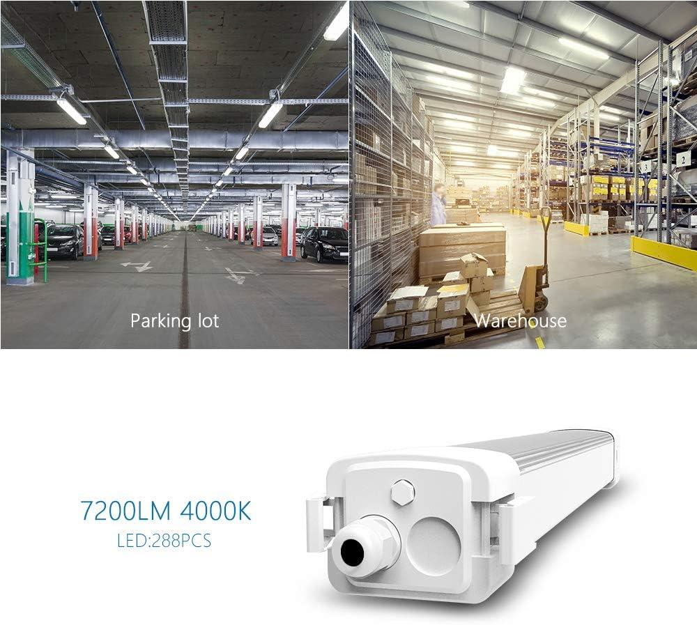 120-150cm LED Feuchtraumleuchte Wannenleuchte Keller Werkstatt Röhre 40-60W IP66