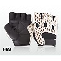 Make or Break Unisex Cotton Mesh Back Leather Gloves Weight lifting Fitness Training Cycle Wheelchair Cycling