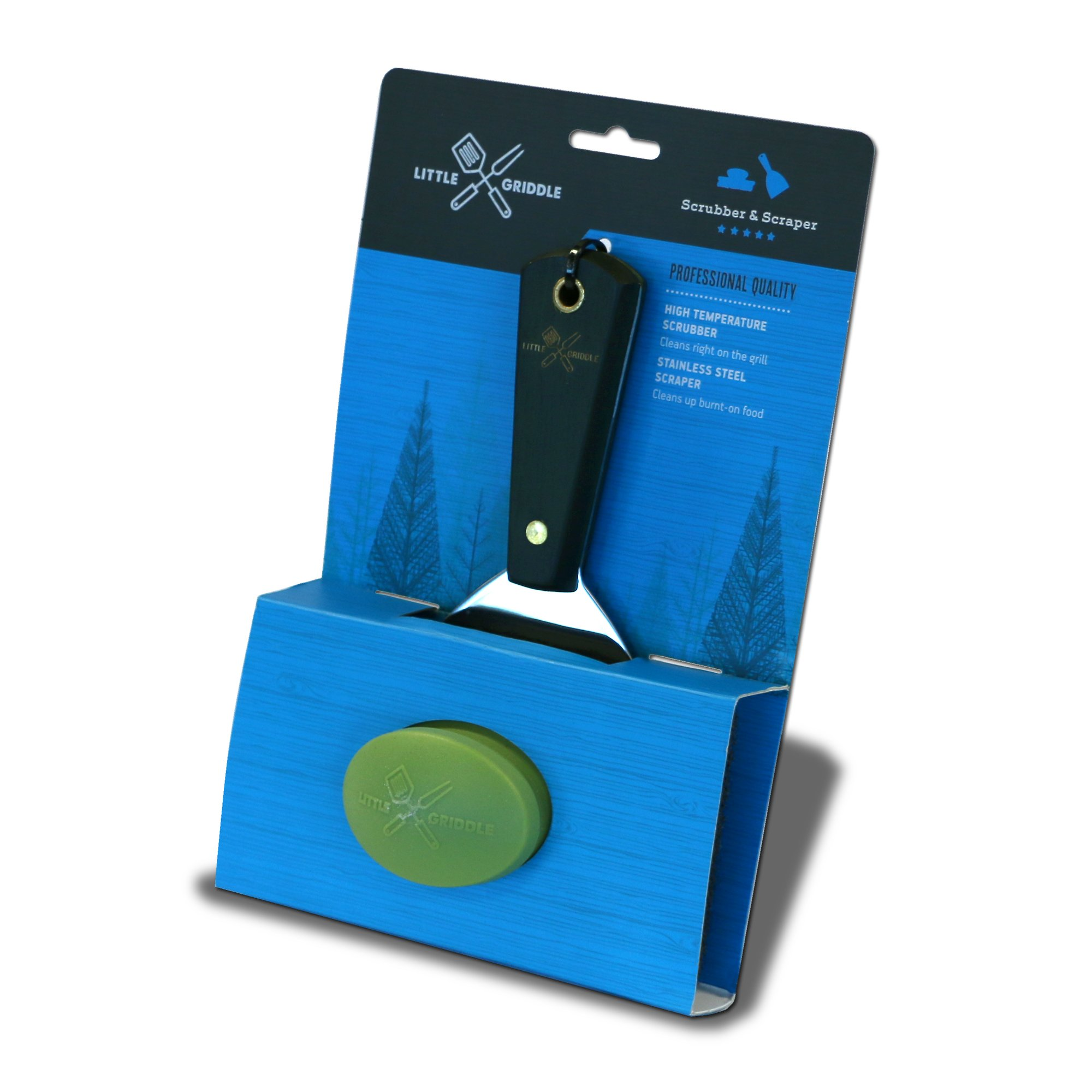 Little Griddle GK540 Grill Cleaning Kit, Silver/Black/Green